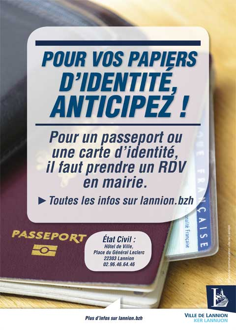 etat civil passeport lannion